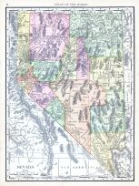 Nevada, World Atlas 1913